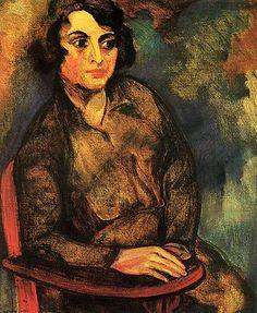 The Russian Student, Anita Malfatti, 1915-1916, Brazil.