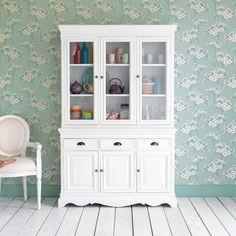 Paulownia wood dresser in white W 124cm