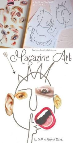 A fun way to make a creative artwork using magazines. See this fun arts and crafts idea and more fun ideas for kids or adults on Listotic. Crafts For Kids To Make, Fun Crafts For Kids, Summer Crafts, Art For Kids, Arts And Crafts, Art Children, Children Crafts, Kid Art, Children Projects