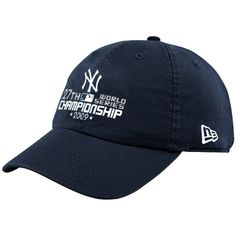New Era New York Yankees Navy Blue World Series Champions 27-Time Champions Adjustable Slouch Hat