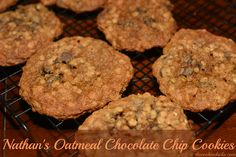 Nathan's Oatmeal Chocolate Chip Cookies | The Cookin Chicks