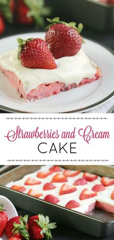 Strawberries and Cream Cake with cream cheese frosting is for everyone. A perfect dessert recipe for spring, to use those available fresh berries.