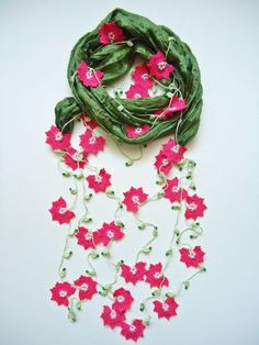 Crochet Necklace Statement Nec |