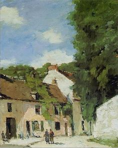 Rue à Mortefontaine (Oise) par Albert Lebourg, Albert Lebourg. French (1849 - 1928)