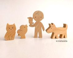 Our toys are safe, ecological, natural and long lasting. Simple design, playful and small size figures are perfect for little hands to hold and use in play. Let your child use their imagination & have fun creating their own story!  You can choose 9 different animals from this listing:  1. Elephant - 12 x 8,5 cm / 4,5 x 3,5 2. Tiger - 13 x 5,5 cm / 5 x 2,1 3. Monkey - 7 x 7 cm / 2,7 x 2,7 4. Koala - 5,5 x 6,5 cm / 2,1 x 2,5 5. Kangaroo - 7 x 8,5 cm / 2,8 x 3,3 6. D...