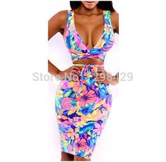 New 2015 Celebrity Floral Dress Summer beach Dress Casual V-Neck Sexy Spaghetti Strap Mermaid Maxi Bodycon Dresses Bandage Dress