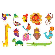 Menagerie Set by Tattly, on Fab.com    I bet my niece already outgrew these, but I like them