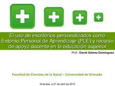 El uso de escritorios personalizados como Entorno Personal de Apren...