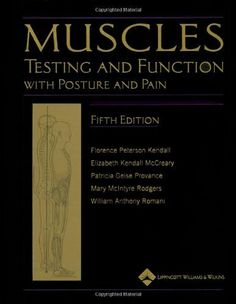 Muscles: Testing and Function, with Posture and Pain: Includes a Bonus Primal Anatomy CD-ROM (Kendall, Muscles) by Florence Peterson Kendall, http://www.amazon.com/dp/0781747805/ref=cm_sw_r_pi_dp_Rw1Fqb1P9ZJFR