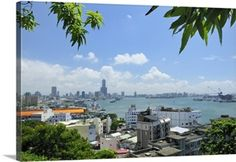 Overview of Kaohsiung harbour, Kaohsiung City, Taiwan