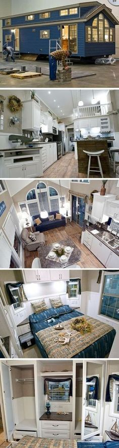 The Kropf Island Series home. A 400 sq ft park model home that sleeps up to 8 people.