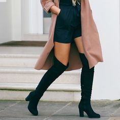 40 Ways to Wear Knee High Boots Outfit this Winter, Fashion, Fashion Mode, Look Fashion, Fashion Outfits, Womens Fashion, Stylish Outfits, Net Fashion, Fashion News, Fashion 2018, Ladies Fashion