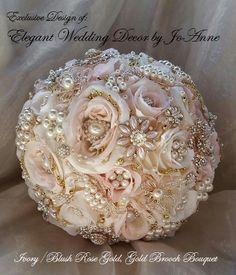 Broche ramo Bouquet de novias personalizados ORO ROSA broche