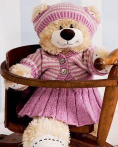 Sød nederdel, trøje og hue til Build-A-Bear - Hendes Verden