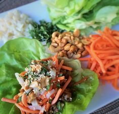 A tasty sauce turns ordinary ground chicken into something pretty amazing~Asian Chicken Lettuce Wraps, Recipe at www.insidekarenskitchen.com