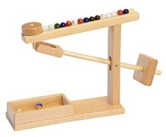 handmade desktop marble run wood toy office game games educational education learning school Amish wooden hardwood classic Waldorf playschool daycare machine