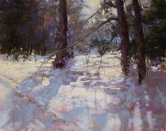 This month, our artist of the month is pastel and snow landscape artist, Barbara Jaenicke. She was a finalist in The Artist& Magazine& Annual Competition. Pastel Landscape, Abstract Landscape, Abstract Oil, Watercolor Landscape, Painting Snow, Winter Painting, Painting Art, Seascape Paintings, Winter