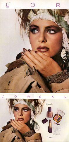 1985 L'oreal Ragamuffin campaign - model: Laetitia Firmin-Didot