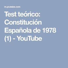 Test teórico: Constitución Española de 1978 (1) - YouTube