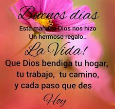 Latin Quotes, Spanish Quotes, Morning Greetings Quotes, Good Morning Quotes, Friendship Quotes Thank You, Christian Backgrounds, Spanish Greetings, Christian Verses, Morning Thoughts