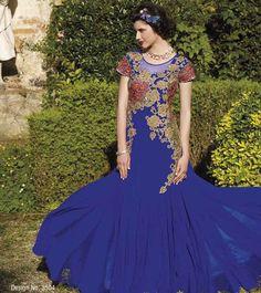 Royal Blue Gown Anarkali