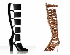 tom ford spring/summer 2013 womens collection | 2013 Spring / Summer Trendy Knee High Gladiator Boot Sandals