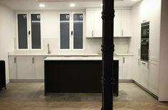 Puerta enmarcada lacada Vanity Tops, Apartments, Kitchens