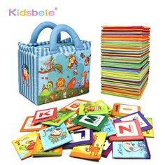 赤ちゃんの早期学習おもちゃ子供のための26ピースアルファベット&手紙モンテッソーリソフトカード用幼児活動赤ちゃんのおもちゃ0-24ヶ月