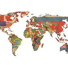Adesivo de Parede Mapa Mundi | Adesivos Descolados | Adesivo de Parede | IStick Online