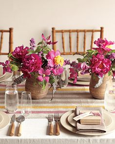 No-sew linen table runner