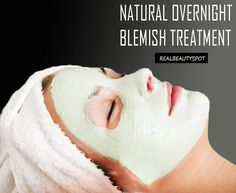 All natural Overnight blemish treatment