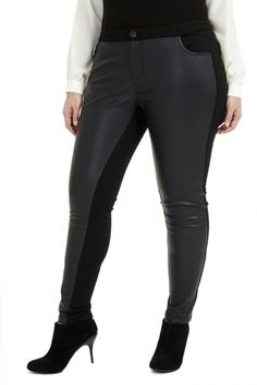 Adela Faux Leather Skinny Pant | allcurvy.com.au by allcurvy.com.au on CurvyMarket.com