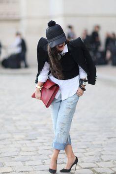 Paris Fashion Week Street Style   Spring 2013   POPSUGAR Fashion