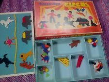 Vintage fuzzy felt.  There was a board with felt covering, then you created pictures with all the felt cut outs.  I had a few different fuzzy felt boards....this one for sure.
