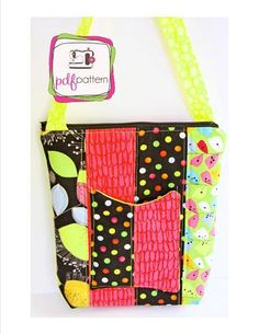 Hipster Bag Purse Pattern  by Little Stitchers' Pattern Company    Wondering what you can make with fat quarters or left over scraps you love so much? Here is a project that will fit that bill!  This popular sewing pattern contains detailed sewing instructions suitable for use by seamstresses ages nine and older. Written by a sewing teacher who specializes in teaching kids to sew, this pattern is great for seamstresses who have proficient sewing skills and appeals to grown-ups too!