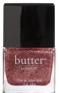 butter LONDON Rosie Lee - a parade of pale pink glitter, a lacquer that will lift your spirits AND your outfit.