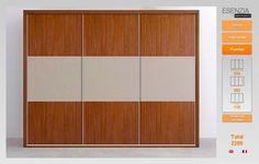 Armario de tres puertas correderas paneladas acabado para colocarlo en el dormitorio