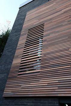 House Cladding, Timber Cladding, Facade Design, Exterior Design, External Cladding, Wooden Facade, Casas Containers, Building Facade, Modern Exterior