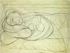 Lying female nude - Pablo Picasso