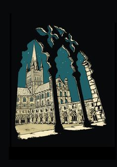 Norwich Cathedral Between Stars