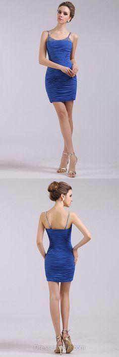 Blue Prom Dresses, Column Formal Dresses, Short Evening Dresses, Sexy Homecoming Dresses, Cheap Party Dresses