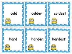 ED ING ER EST Inflectional Endings 150 Word Cards First Grade Lessons, First Grade Activities, Teaching First Grade, Teaching Phonics, Teaching Activities, Teaching Writing, Inflectional Endings, Root Words, Speech And Language