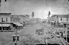From Western Mining History, Harrison Street - Leadville, Colorado 1879. So much going on in this image.