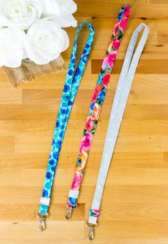 Funky watermelon safety lanyard breakaway rose 2 sizes ID badge fruit pink