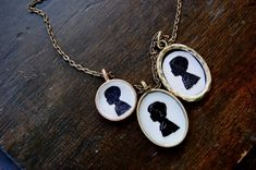 silhouette tile necklace