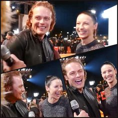 """sablelab: """" macangel56: """"They have the best times together! #Repost @caitriona_balfe_fan ・・・ #caitrionabalfe #samheughan #samcait #outlander #bestchemistry #scotland #edinburgh """" So very happy in each other's company. It's infectious. ❤️ """""""
