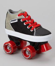 Love this Black & Gray Zinger Roller Skates - Kids by Roller Derby on #zulily! #zulilyfinds