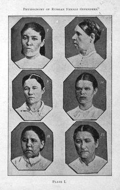 Cesare Lombroso: Physiognonomy of russian female offenders Cesare Lombroso. The Female Offender. New York: D. Appleton and Company, 1909