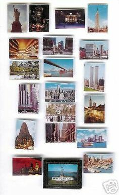 DOLLHOUSE MINIATURES NEW YORK CITY PHOTO ALBUM BOOK PRINTS TRAVEL PICTURES