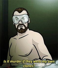 """Algernop Krieger From """"Archer"""" Is The Mad Scientist Of Your Dreams Archer Funny, Archer Quotes, Sterling Archer, Classic Quotes, Danger Zone, Intelligence Service, 13 Reasons, Real Hero, Im Crazy"""
